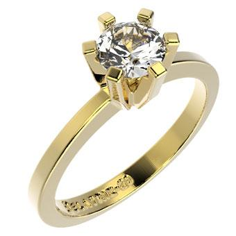 10166 18K Gold Layered CZ Women's Ring
