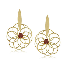 10169R 18K Gold Layered Earring