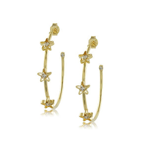 10197R 18K Gold Layered Hoop Earring