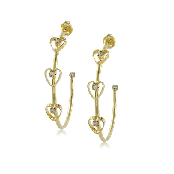 10203R 18K Gold Layered Hoop Earring