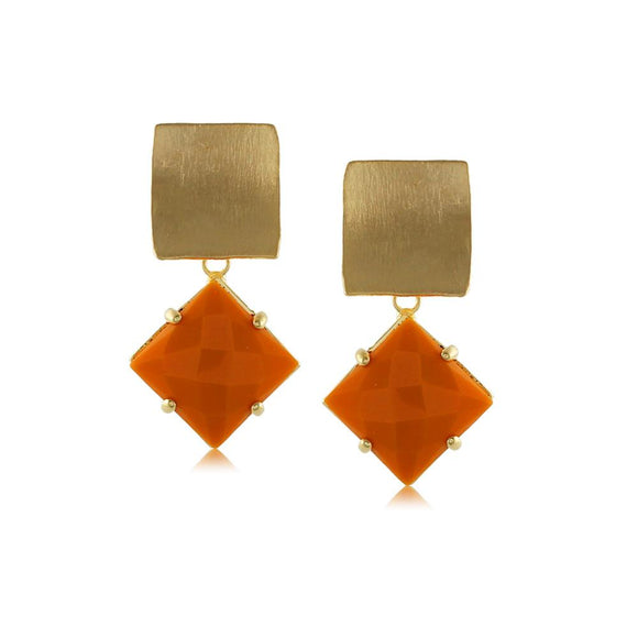 10229R 18K Gold Layered Earring