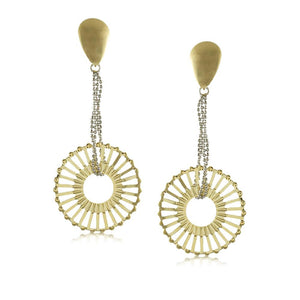 10250R 18K Gold Layered Earring