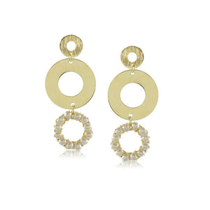 10286R 18K Gold Layered  Earring