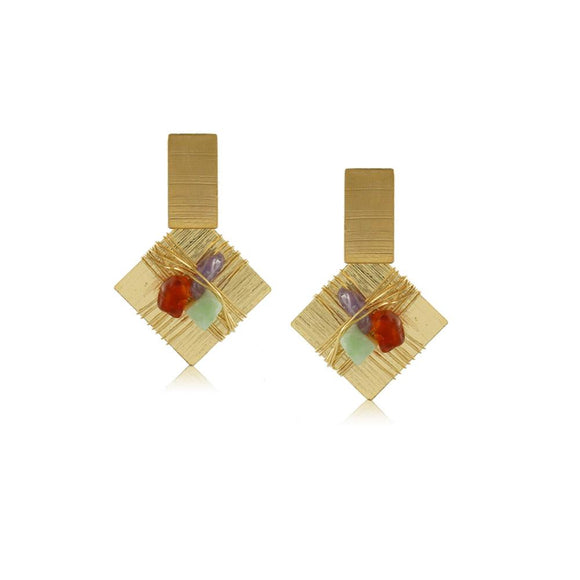 10324R 18K Gold Layered Earring