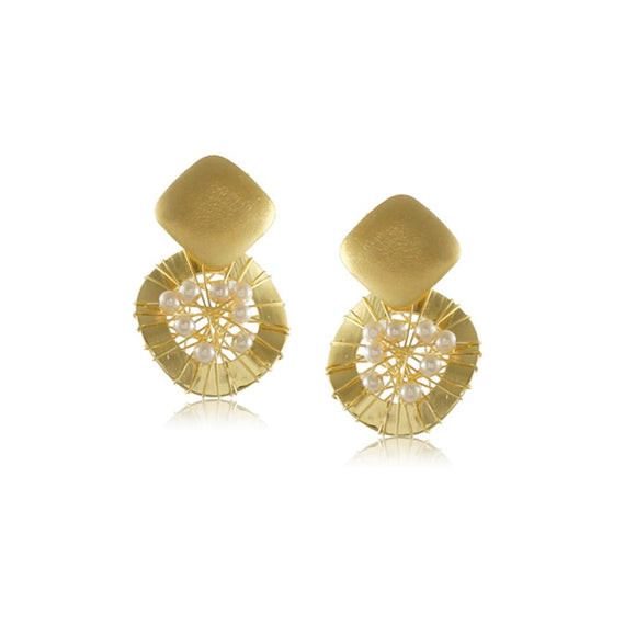 10325R 18K Gold Layered  Earring