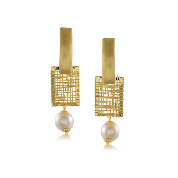 10327R 18K Gold Layered Earring