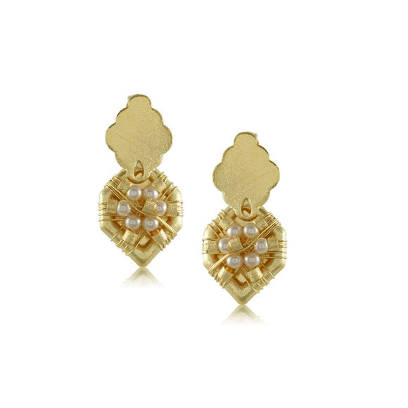 10333R 18K Gold Layered Earring