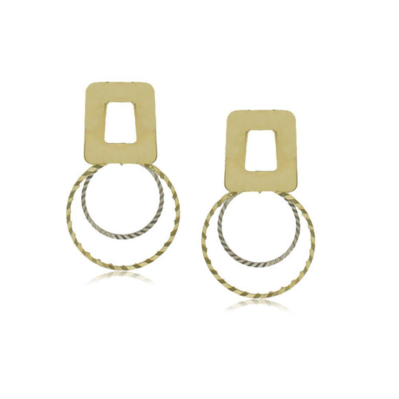 10346R 18K Gold Layered  Earring