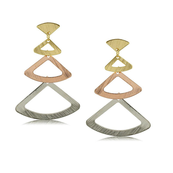 10350R 18K Gold Layered Earring