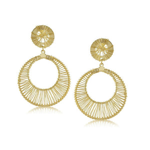 10362R 18K Gold Layered Earring