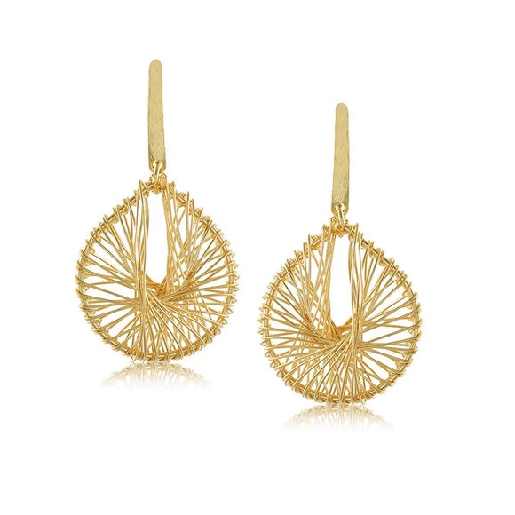 10373R 18K Gold Layered  Earring