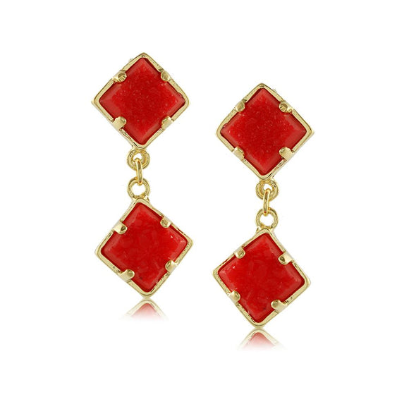 10498R 18K Gold Layered Earring