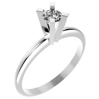 10521P CZ 925 Silver Women's Ring