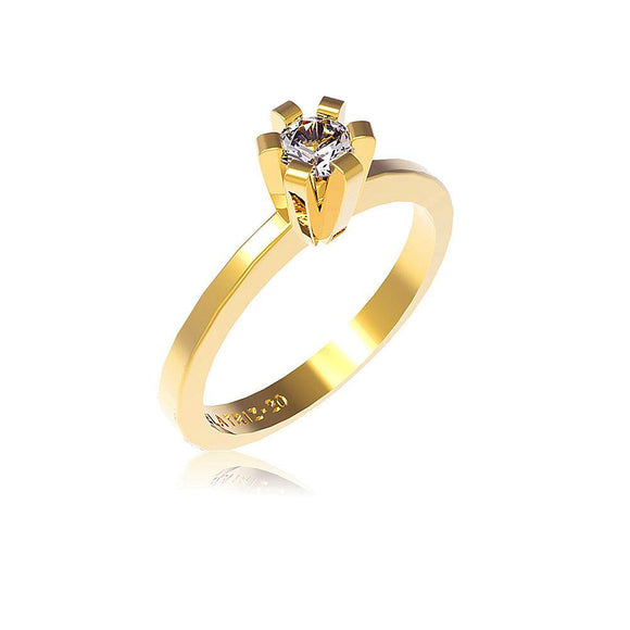 10522 18K Gold Layered CZ Women's Ring