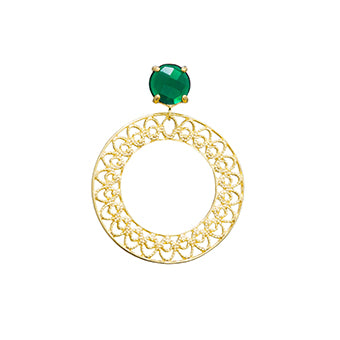 10649R 18K Gold Layered Earring