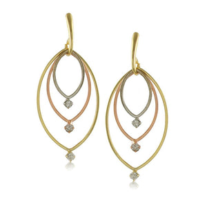 10722R 18K Gold Layered  Earring