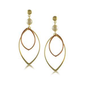 10732R 18K Gold Layered Earring