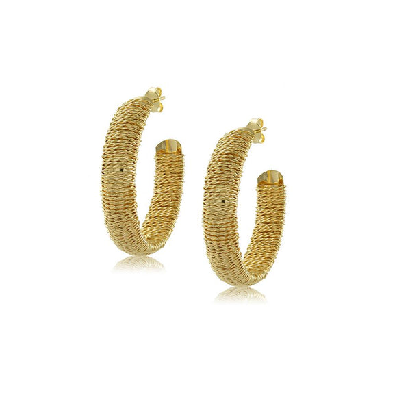 10737R 18K Gold Layered Hoop Earring
