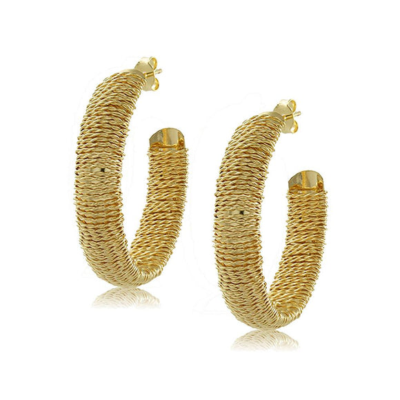 10748R 18K Gold Layered Hoop Earring