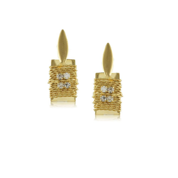10781R 18K Gold Layered Earring