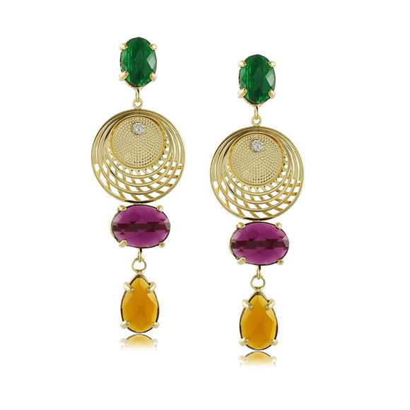 10849R 18K Gold Layered  Earring