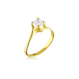 10973 18K Gold Layered CZ Women's Ring