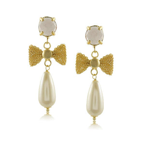 10999R 18K Gold Layered Earring Gray