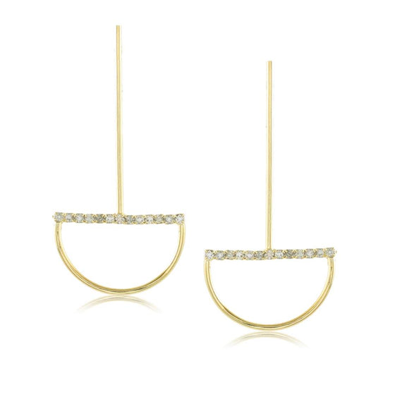 11571R 18K Gold Layered Earring