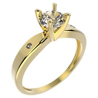 11714 18K Gold Layered CZ Ring