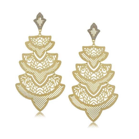 11762R 18K Gold Layered Earring