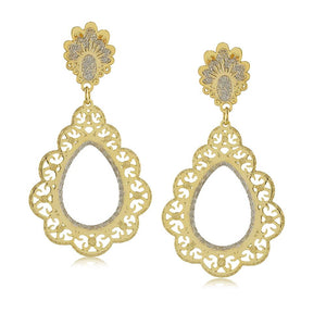 11767R 18K Gold Layered Earring