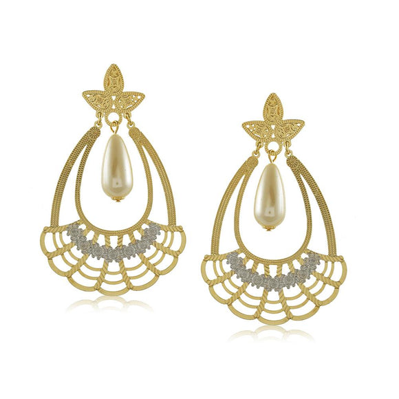 11775R 18K Gold Layered Earring
