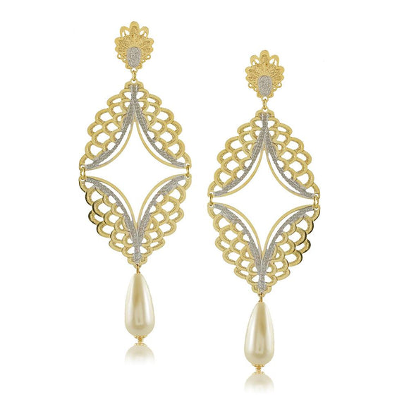 11786R 18K Gold Layered Earring