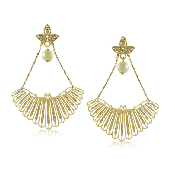 11800R 18K Gold Layered Earring