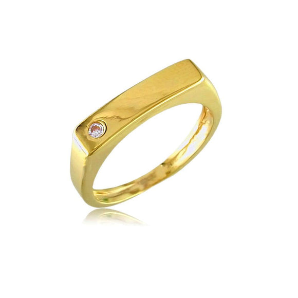 11915 18K Gold Layered CZ Women's Ring