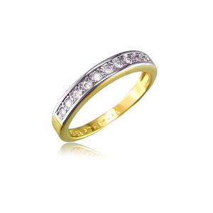 11951 18K Gold Layered CZ Women's Ring