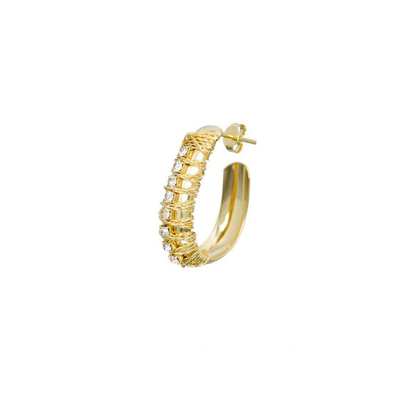 12064R 18K Gold Layered Earring
