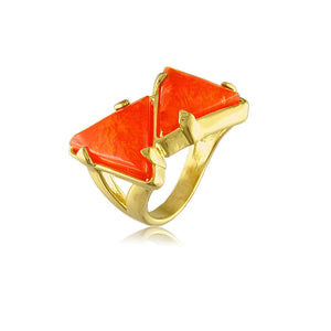 12080 18K Gold Layered Nat Stone Ring