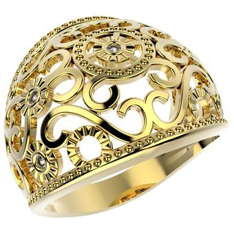 12231 18K Gold Layered CZ Women's Ring