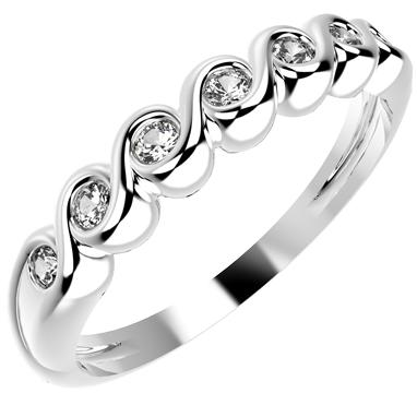12241P CZ 925 Silver Women's Ring