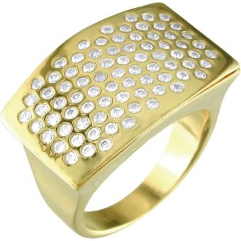 12244 18K Gold Layered CZ Women's Ring