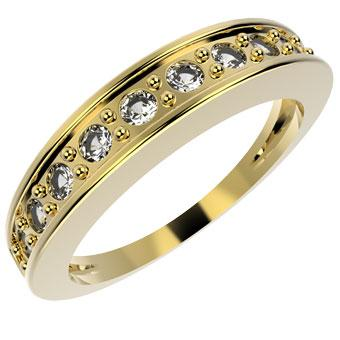 12255 18K Gold Layered CZ Women's Ring
