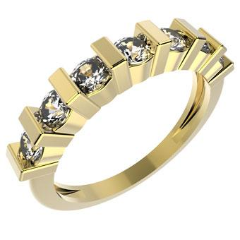 12274 18K Gold Layered CZ Women's Ring