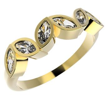 12283 18K Gold Layered CZ Women's Ring