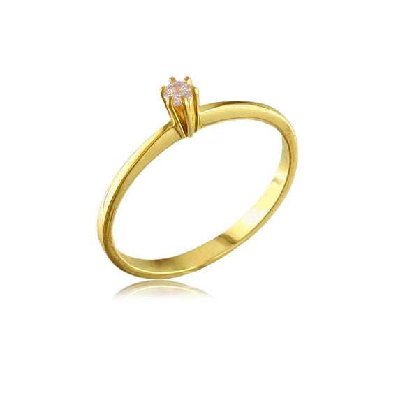 12324 18K Gold Layered CZ Women's Ring
