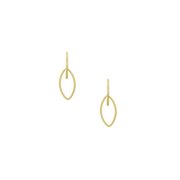 12437R 18K Gold Layered  Earring
