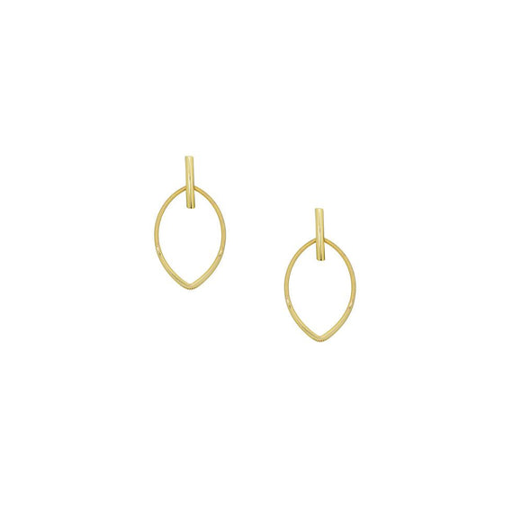 12438R 18K Gold Layered  Earring