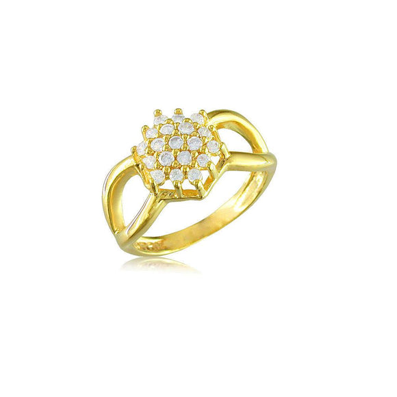 12522 18K Gold Layered CZ Women's Ring