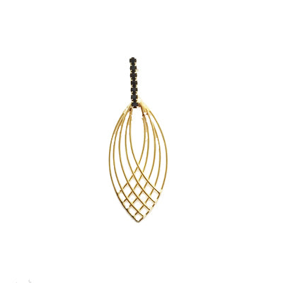 12828R 18K Gold Layered Earring