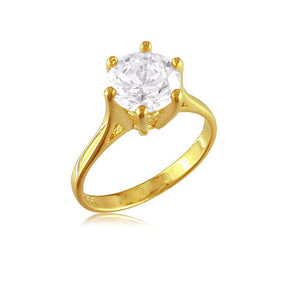 12832 18K Gold Layered CZ Women's Ring